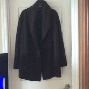 Vince Ladies Brown Sweater Coat Size M